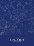 Lincoln, United Kingdom Blue Map Photo