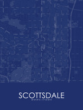 Scottsdale, United States of America Blue Map Posters