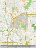 San Antonio, United States of America Map Print