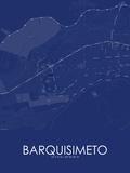 Barquisimeto, Venezuela(Bolivarian Republic of) Blue Map Plakat