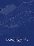 Barquisimeto, Venezuela(Bolivarian Republic of) Blue Map Posters