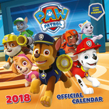 Paw Patrol - 2018 Square Calendar with Stickers Kalendere