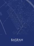 Basrah, Iraq Blue Map Photo