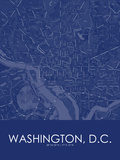 Washington, D.C., United States of America Blue Map Prints