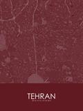 Tehran, Iran, Islamic Republic of Red Map Posters
