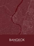 Bangkok, Thailand Red Map Photo
