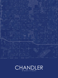 Chandler, United States of America Blue Map Photo