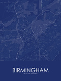 Birmingham, United States of America Blue Map Posters