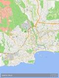 Santa Cruz, United States of America Map Prints