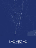 Las Vegas, United States of America Blue Map Poster