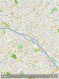 Paris, France, Plan, Carte Affiches