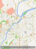 Pune, India Map Photo