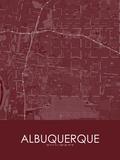 Albuquerque, United States of America Red Map Prints