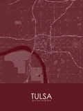 Tulsa, United States of America Red Map Photo