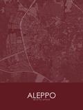 Aleppo, Syrian Arab Republic(Syria) Red Map Posters