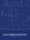 San Bernardino, United States of America Blue Map Prints