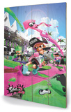 Splatoon 2 - Game Cover Targa di legno