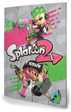 Splatoon 2 - Pink vs Green Targa di legno