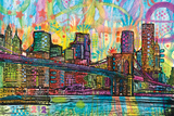 Brooklyn Bridge By Dean Russo Print