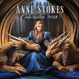 Anne Stokes - 2018 Calendar Kalendrar