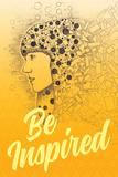 Tekst: Be Inspired (Laat je inspireren) Poster