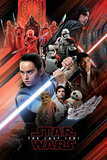 Star Wars: Episode VIII - Die letzten Jedi - Bildmontage in Rot Kunstdruck