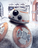 Star Wars: Episódio VIII - Os Últimos Jedi - BB-8 espiando Pôsters