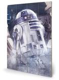 Star Wars: The Last Jedi - R2-D2 Droid Cartel de madera