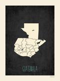 Guatemala - Mapa negro Pósters por Rebecca Peragine