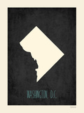 Black Map Dc Prints by Rebecca Peragine
