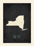 Black Map New York Posters by Rebecca Peragine