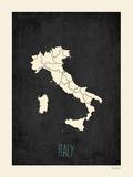 Black Map Italy Photo by Rebecca Peragine