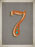 Vintage 7 Grey Posters by Rebecca Peragine