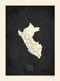Black Map Peru Prints by Rebecca Peragine
