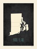 Black Map Rhode Island Prints by Rebecca Peragine