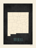 Black Map New Mexico Posters by Rebecca Peragine