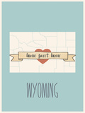 Wyoming State Map, Home Sweet Home Photo by Lila Fe