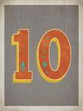 Vintage 10 Grey Poster by Rebecca Peragine