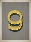 Vintage 9 Grey Prints by Rebecca Peragine