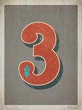 Vintage 3 Grey Print by Rebecca Peragine
