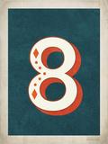 Vintage 8 Print by Rebecca Peragine