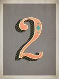 Vintage 2 Grey Posters by Rebecca Peragine