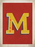 Vintage M Print by Rebecca Peragine