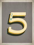 Vintage 5 Grey Posters by Rebecca Peragine