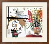 Wicker, 1984 - Osier, 1984 Reproduction giclée encadrée par Jean-Michel Basquiat