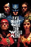 Justice League (Gerechtigkeitsliga) - Gesichter Kunstdruck