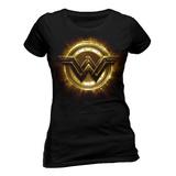 Tætsiddende T-shirt: Justice League film – Wonder Woman-symbol Bluser