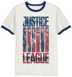 La Liga de la Justicia - Camiseta a rayas con personajes T-Shirts