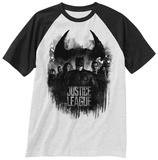 """T-shirt con maniche a raglan dedicata al film """"Justice League"""" - gruppo e logo Raglans"""