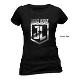 La Liga de la Justicia - Logo metálico (camiseta ajustada) T-Shirts